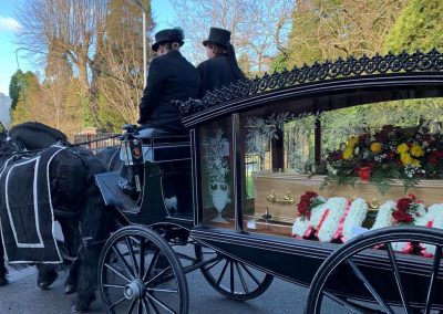 Horse drawn funeral Worcester